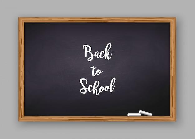 De volta ao texto da escola no quadro-negro