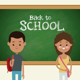 De volta aos alunos de escolas multiculturais em sala de aula