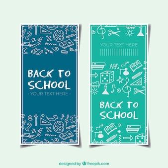 De volta aos banners da escola com esboços