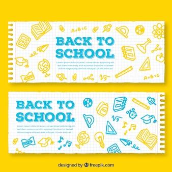 De volta aos banners de papel da escola