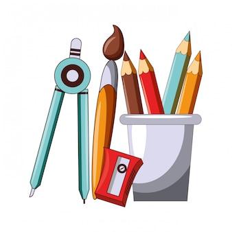 De volta aos desenhos animados da educação escolar