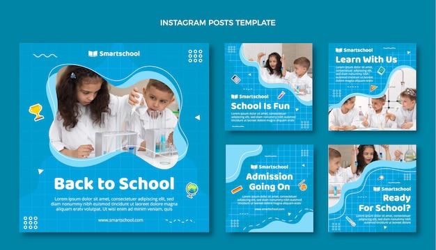 De volta às aulas, coleção de postagens do instagram
