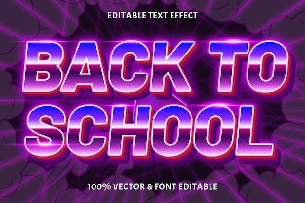 De volta às aulas estilo retro de efeito de texto editável de volta às aulas estilo retro de efeito de texto editável de volta às aulas estilo retro de efeito de texto editável de volta às aulas estilo retro de efeito de texto editável