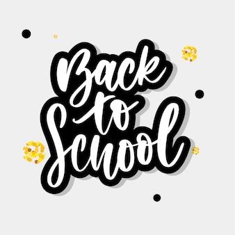 De volta às letras da escola