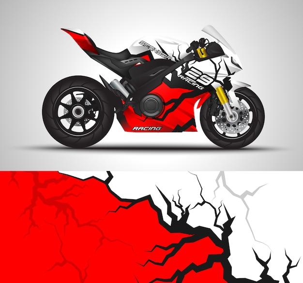 Decalque da motocicleta e adesivo de vinil