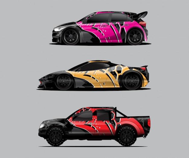 Decalque do carro pacote de embrulho gráfico, carro de embrulho, decoração do carro
