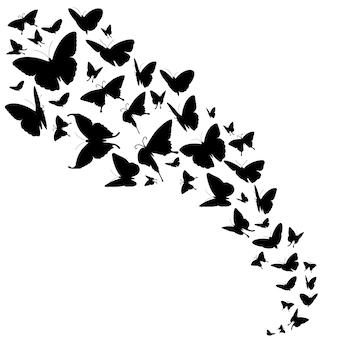 Decoração abstrata com borboletas