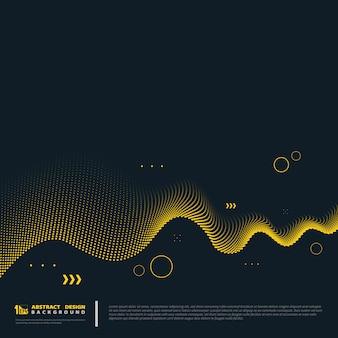 Decoração abstrata linha ouro sobre fundo azul.