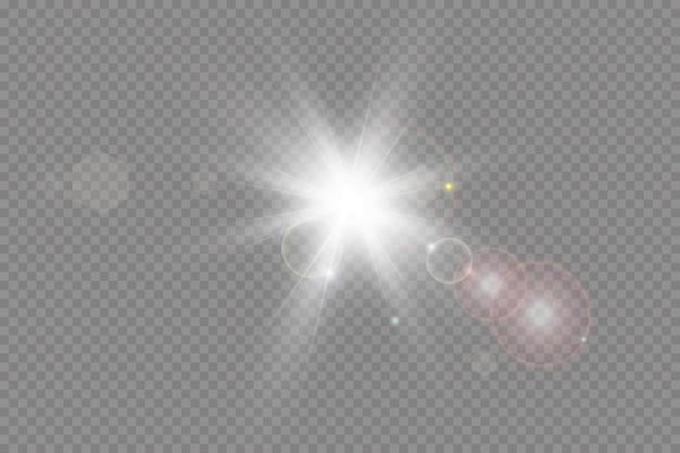 Decoração com ilustração de efeito de luz brilhante
