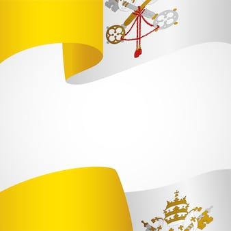 Decoração da insígnia da cidade do vaticano