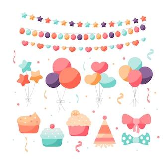 Decoração de aniversário colorida