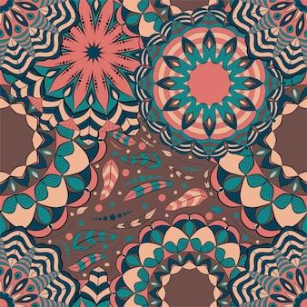 Decoração de arte de mandala de padrão abstrato