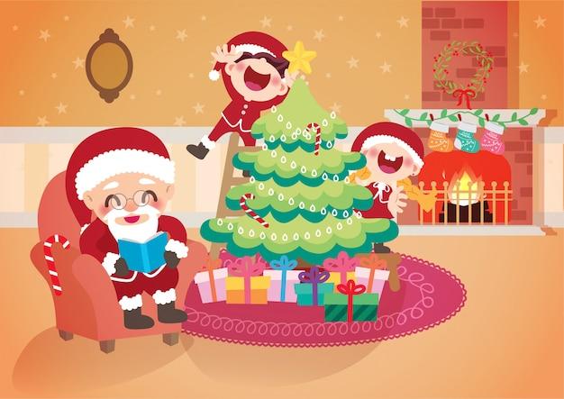 Decoração de árvore de celebração de natal