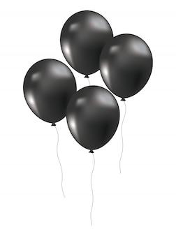 Decoração de balões de sexta-feira negra