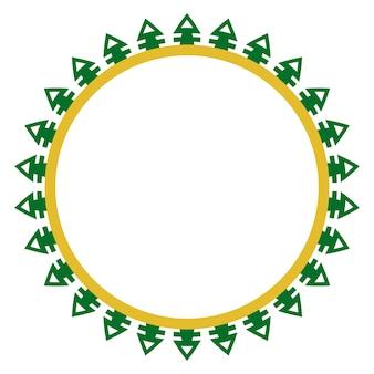 Decoração de círculo sem costura casa tradicional de betawi, antiga jacarta, indonésia