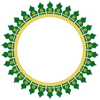 Decoração de círculo sem costura de vetor casa tradicional de betawi, antiga jacarta, indonésia
