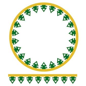 Decoração de círculo verde amarelo sem costura casa tradicional da antiga jacarta, indonésia