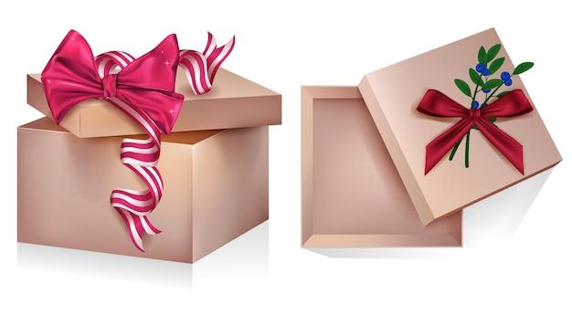 Decoração de coleção de conjunto de caixa de presente