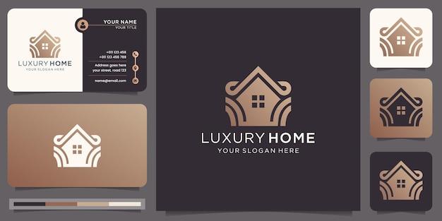 Decoração de design de casa de luxo. casa moderna para construção