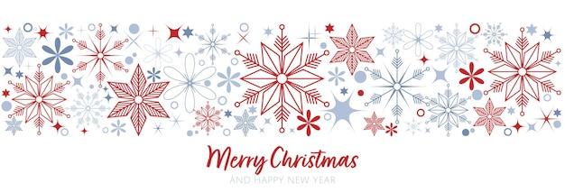 Decoração de flocos de neve em design de fundo branco para fundo de cabeçalho de quadro de banner de natal