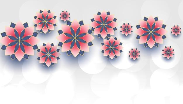 Decoração de flores com espaço de texto