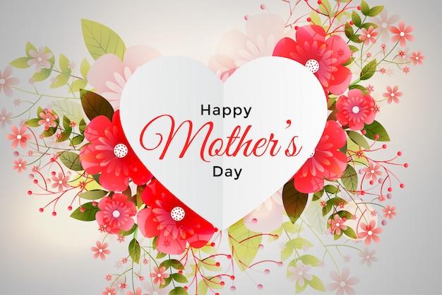 Decoração de folhagem para feliz dia das mães