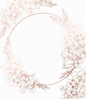 Decoração de grinalda de flores vintage boho