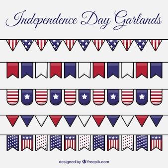 Decoração de guirlandas do dia da independência