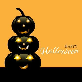 Decoração de halloween para celebração em fundo laranja.