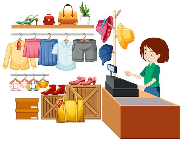 Decoração de loja de tecidos