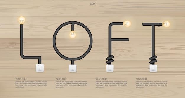 Decoração de madeira decoração símbolo iluminado iluminação