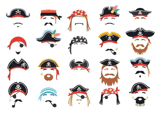 Decoração de máscara de pirata de carnaval