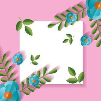 Decoração de moldura de flores