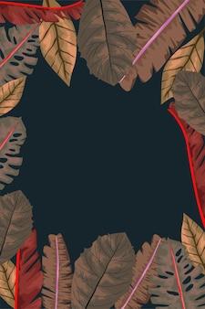 Decoração de moldura de folhas secas de outono