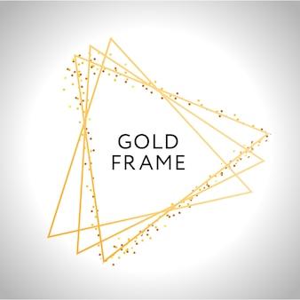 Decoração de moldura de ouro isolada fronteira de gradiente metálica ouro brilhante de vetor