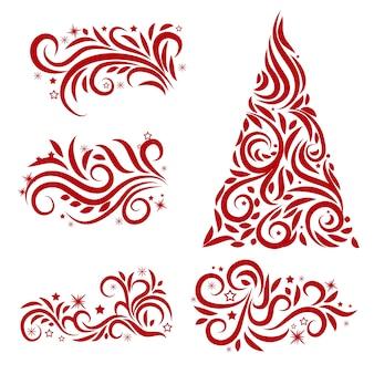 Decoração de natal caligráfica