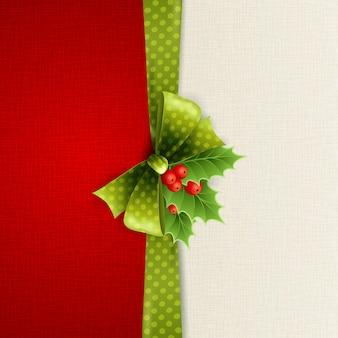 Decoração de natal com folhas de azevinho