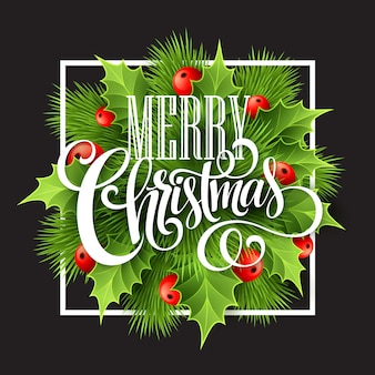 Decoração de natal no quadro de giz, cartão de felicitações