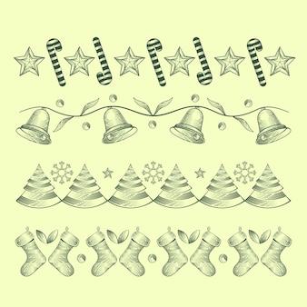 Decoração de natal vintage com sinos