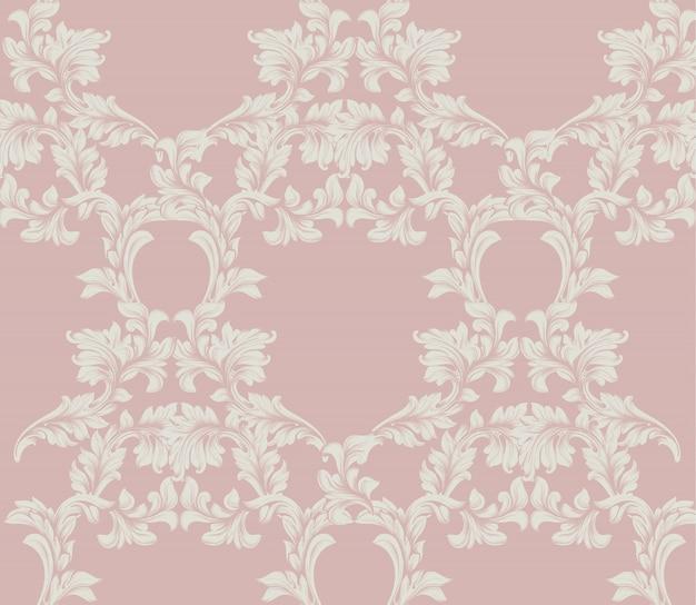 Decoração de ornamento artesanal de padrões damasco. textura de fundo barroco