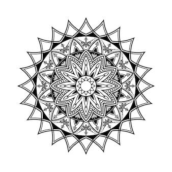 Decoração de ornamento redondo de elemento vetorial de mandala