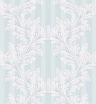 Decoração de ornamento vetorial de padrão antigo damasco. textura de fundo barroco