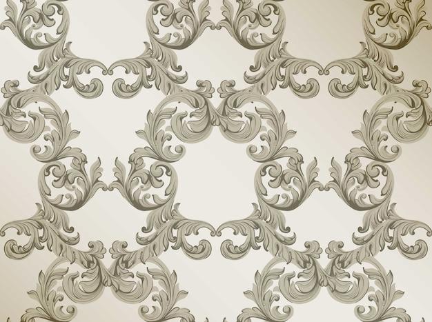 Decoração de padrão barroco para convites, casamento, cartões de saudação. ilustrações vetoriais