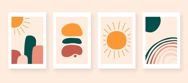 Decoração de parede de arte abstrata moderna vetor de ilustração colorida de fundo abstrato