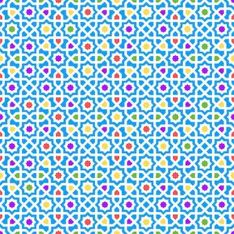 Decoração de textura perfeita de padrão árabe. ilustração vetorial
