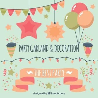 Decoração do partido lindamente