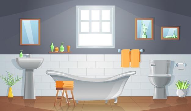 Decoração do quarto de banheiro com design gradiente