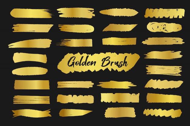 Decoração dourada da mancha da escova