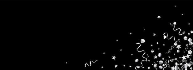 Decoração estrela de prata isolada em preto