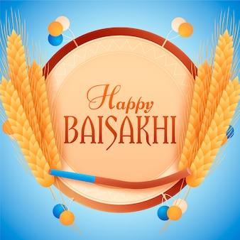 Decoração feliz baisakhi